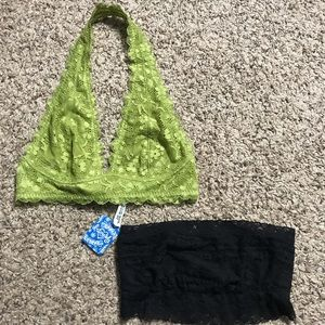 NWT lot of 2 free people bralets size small